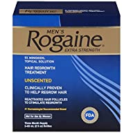 Rogaine for Men Hair Regrowth Treatment, Original Unscented, 2 Oz, Three Month Supply