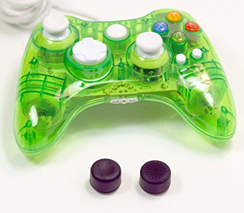 fivestar-usb-wired-game-pad-controller-with-thumbstick-grips-1x-transparent-green