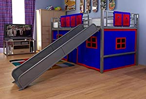 Dorel Home Products Silver Fantasy Loft Bunkbed