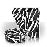 Hairdressing Tool Pouch Belt Mini Zebra Print Professional Salon Storage Supplies