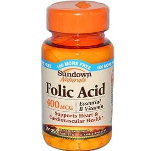 Sundown Folic Acid 400mcg 350 Tablets