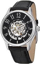 Stuhrling Original Solaris Watch Black Alligator Embossed Band 746L.02