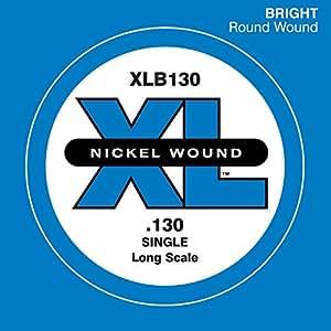 D'Addario XLB130 Nickel Wound Bass Guitar Single String, Long Scale, .130