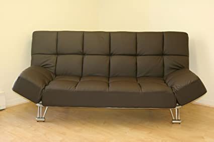 Venus Chocolate Vinyl Sofa Bed