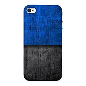 Blue Black Print Back Case Cover for iPhone 4 4s