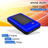 COOLNUT Solar Power Bank 10000mAh Complete Kit [Adapter and 3 USB Cable]