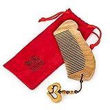 Sandalwood comb& xFF0C;Pocket Comb,Hair Brush, No Static Green Sandalwood Comb,Comb for Men, Comb for Women & Comb for Kids