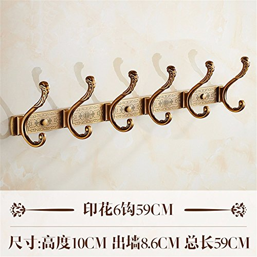 La cucina e il bagno Asciugamani rampa gancio/Rack per montaggio a parete:ricoprire Robe Hat vestiti per il montaggio a parete Staffa gancio porta asciugamani,Vintage-Style antichi fila di uncini grucce appendiabiti,Nova prende 6 GANCIO