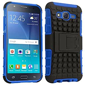ACASE Tough Hybrid Armor Back Cover Case with Kickstand for Samsung Galaxy J7 -(Blue)