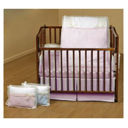 Baby Doll Bedding Classic Bows Crib Bedding Set, Pink