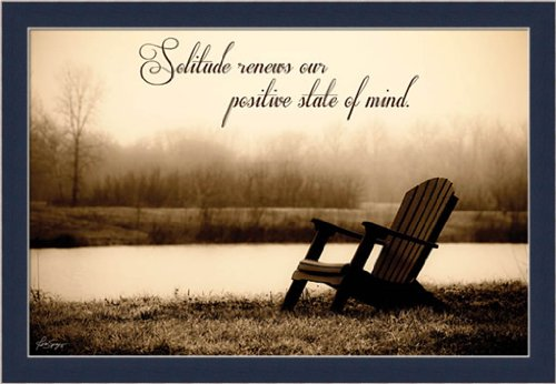 Solitude Renews Our Positive State of Mind Quote Wall Art Print