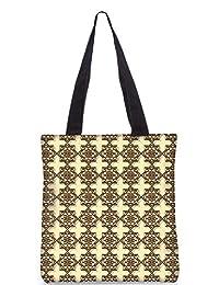 Snoogg Abstract Brown Pattern Design Digitally Printed Utility Tote Bag Handbag Made Of Poly Canvas