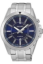 Seiko SKA703 Men's Silver Bracelet Band Blue Dial Watch