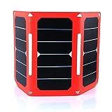 Solarladegerät 21W 5V Dual-USB Port faltbarer mit SunPower Solar Panel