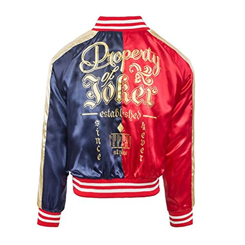 Ufficiale Womens Suicide Squad Harley Quinn Red una giacca Bomber oro - DC Comics