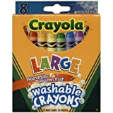 Bulk Buy: Crayola Large Washable Crayons 8/Pkg 52-3280 (3-Pack)