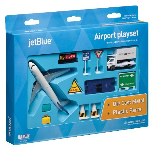jetblue-die-cast-airport-playset-11-pieces-in-set-by-daron