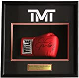 Floyd Mayweather Jr Signed Red Title Boxing Glove Shadowbox Beckett BAS