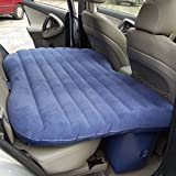 Cheesea Travel Car/SUV Back Seat Sleep Rest Inflatable Mattress Air Bed Car Bed with Air Pump (Color: Blue)