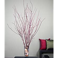 Green Floral Crafts Red Dogwood 3-4 Feet Tall. Bunch of 15 stems