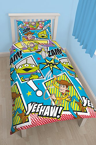 carattere-mondiale-91-cm-per-letto-singolo-disney-toy-story-yee-haw-letto-insieme-reversibili-multic