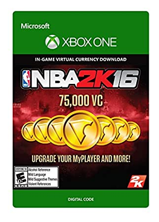 NBA 2K16 75,000 VC - Xbox One [Digital Code]