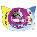 Whiskas Knusper-Taschen Katzensnacks Lachs, 8er Pack (8 x 60 g)