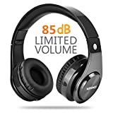 Wireless Bluetooth Headphones,Votones Adjustable Bluetooth headset for Teens,Adult Lightweight Fold-able Over Ear Earphone with Microphone (Black)