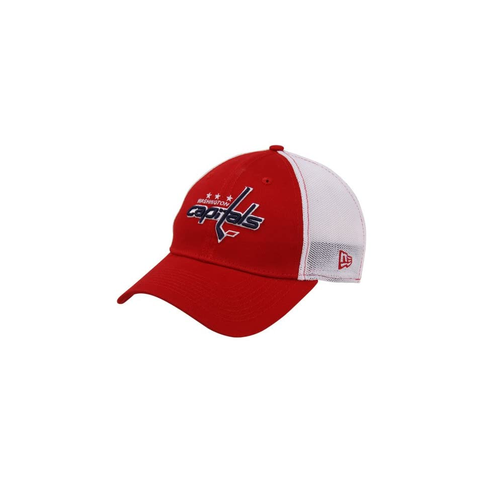 7338c694567 NHL New Era Washington Capitals Stretch Print Mesh Flex Hat Red White