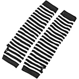 Leegoal Striped Anime Cosplay Stretch Arm Warmers Gloves