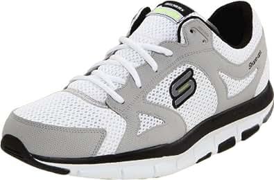 Skechers Liv-Smart 52200 BKGY, Sneaker uomo, Bianco (Weiss/WBK), 41