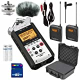 Zoom H4N Portable Recorder Bundle w Sennheiser Wireless Mics Cables and Wind Muff Bundle