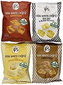 Ips The Original Egg White Chips Variety Pack, 4-flavor, 1 Ounce (Pack of 8)