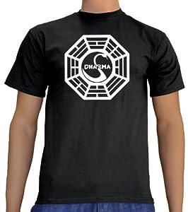 Touchlines Lost Dharma Logo T-Shirt, Black, Größe: XXXL