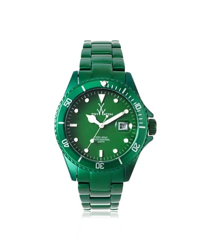 ToyWatch Women's ME03GR Metallic Green Aluminum Watch
