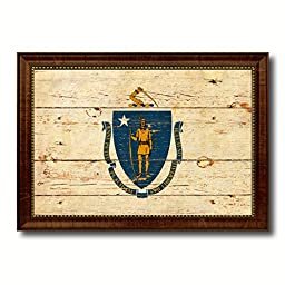 Massachusetts State Vintage Flag Art Collection Western Shabby Cottage Chic Interior Design Office Wall Home Decor Gift Ideas, 27\