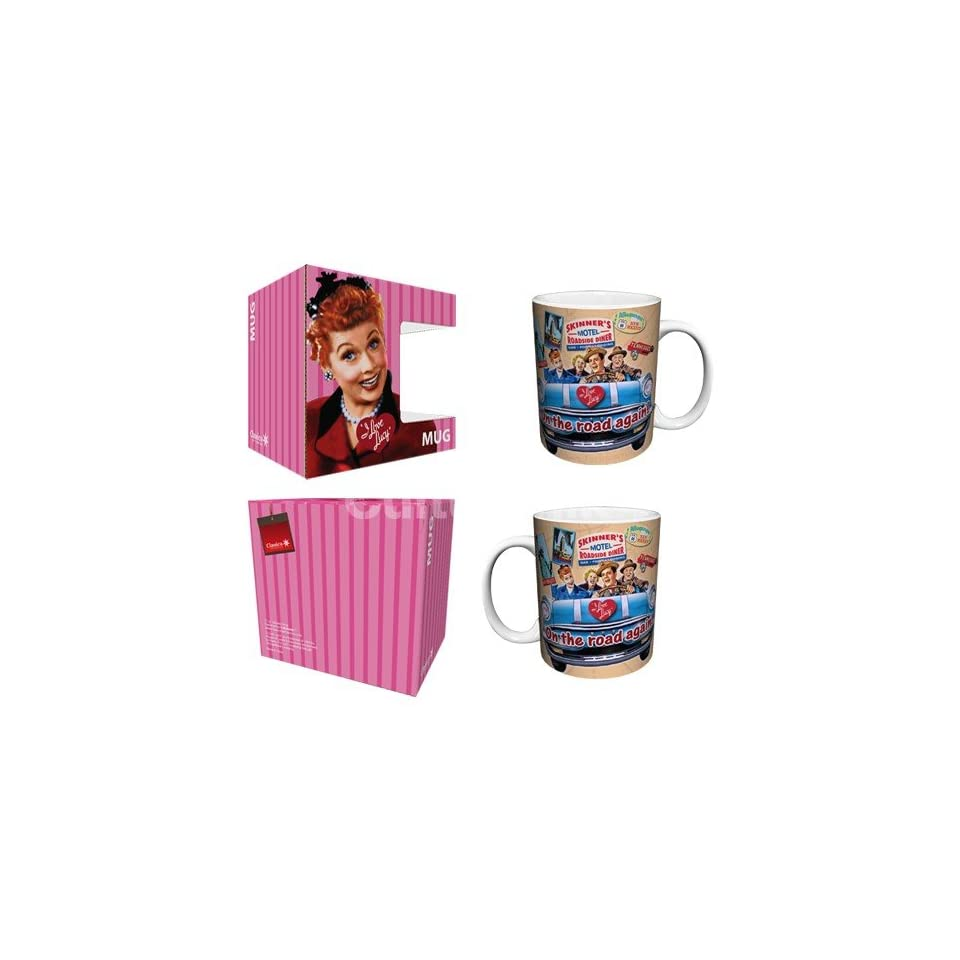 I Love Lucy On the Road Again Classic Comedy TV Television Show Ceramic Boxed Gift Coffee (Tea, Cocoa) 11 Oz. Mug