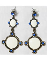 Designer Earrings - Stone And Metal - B00K4F2ST2