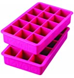 Tovolo Perfect Cube Ice Tray, Fuchsia - Set of 2