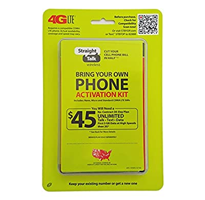 Straight Talk Verizon 4G LTE Bring Your Own Phone Activation Kit