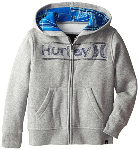 Hurley Little Boys' Puerto Rico Loose Fit Hoody, Grey Heather, 5 front-912323