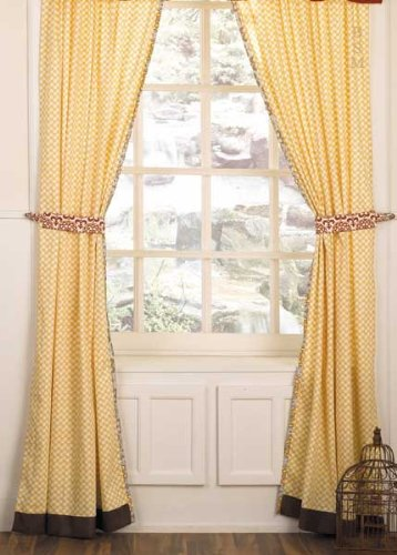 "Delilah Window Drapes - 2 Panels with Tie Backs - 42"" x 84"""