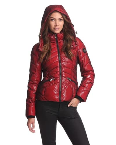 Buffalo David Bitton Women's Zip-Up Puffer  [Oxblood]