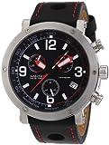 Nautec No Limit Herren-Armbanduhr XL Shamal Chronograph Quarz Leder SM QZ/LTSTBK-RD