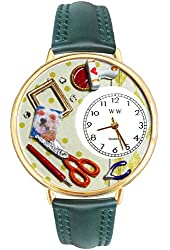 Scrapbook Red Leather And Goldtone Watch #WG-G0410008