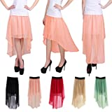 HDE Trendy Double Layer High Low Skirt