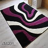 Sommerfarben Moderner Jugend Designer Teppich in versch Größen //LILA – VIMODA TEPPICH – NEU & BLITZVERSAND (LILA, 200 cm x 290 cm)