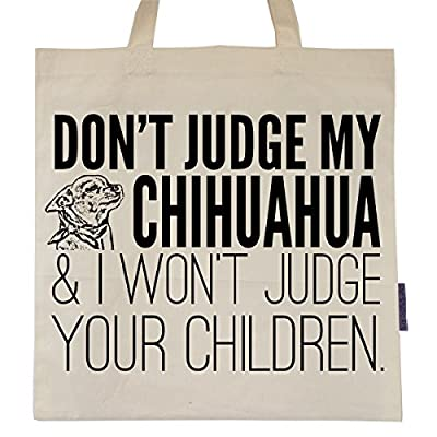 Don't Judge My Dog Eco-Friendly Tote Bag by Pet Studio Art