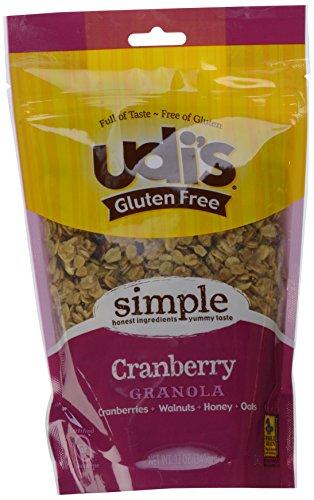 Udis Gluten Free Granola, Cranberry, 12 oz Pouches, 3 pk