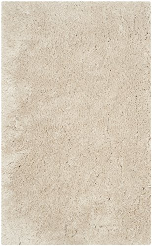 Safavieh Arctic Shag Collection SG270V Handmade Beige Shag Area Rug, 3 feet by 5 feet (3' x 5')
